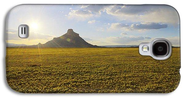 Desert Sunset Galaxy S4 Case - Golden Desert by Chad Dutson