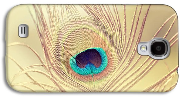 Golden Feather Galaxy S4 Case by Amy Tyler