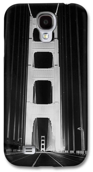 Golden Gate Bridge At Night Galaxy S4 Case by Underwood Archives