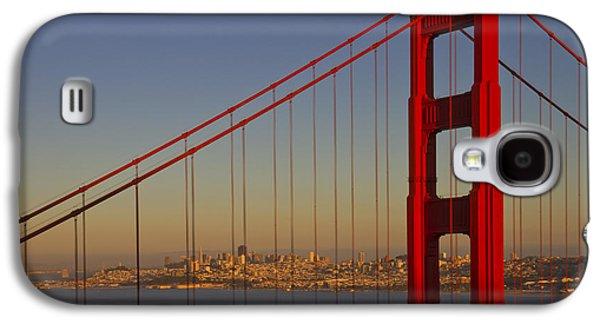 Golden Gate Bridge At Sunset Galaxy S4 Case by Melanie Viola