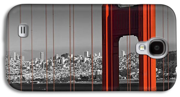 Golden Gate Bridge Panoramic Downtown View Galaxy S4 Case by Melanie Viola