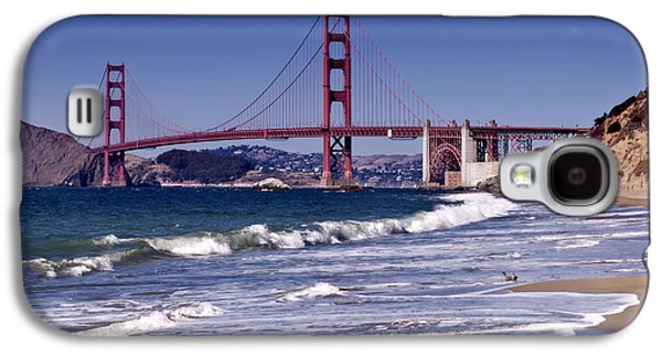 Golden Gate Bridge - Seen From Baker Beach Galaxy S4 Case by Melanie Viola