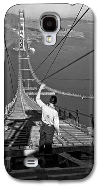 Golden Gate Bridge Worker Galaxy S4 Case by Underwood Archives