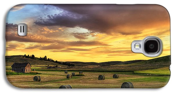 Golden Hour Farm Galaxy S4 Case by Mark Kiver