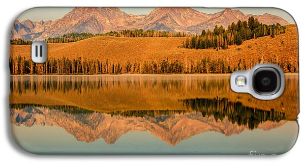 Golden Mountains  Reflection Galaxy S4 Case by Robert Bales