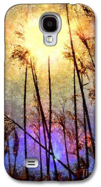 Golden Sun Rays On Beach Grass Galaxy S4 Case by Janine Riley