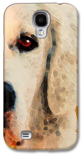 Golden Retriever Half Face By Sharon Cummings Galaxy S4 Case by Sharon Cummings