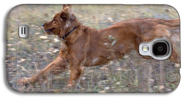 Golden Retriever Running Galaxy S4 Case by William H. Mullins