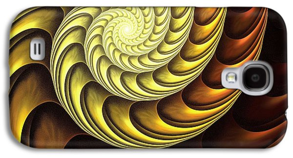 Golden Spiral Galaxy S4 Case by Anastasiya Malakhova