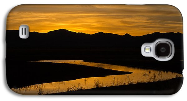 Golden Wetland Sunset Galaxy S4 Case