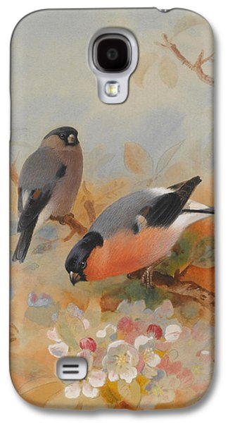 Goldfinches Bullfinches Galaxy S4 Case by Archibald Thorburn