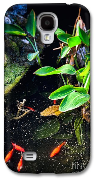 Galaxy S4 Case featuring the photograph Goldfish In Pond by Silvia Ganora
