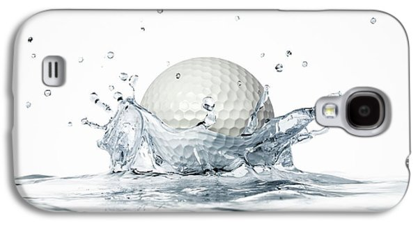 Golf Ball Splashing Into Water Galaxy S4 Case by Leonello Calvetti