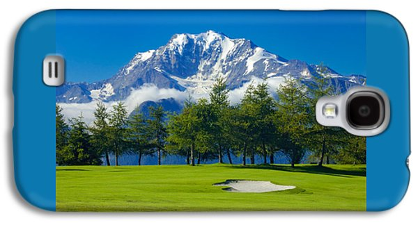 Golf Course In The Mountains - Riederalp Swiss Alps Switzerland Galaxy S4 Case by Matthias Hauser