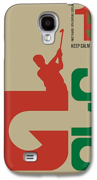 Golf Poster Galaxy S4 Case