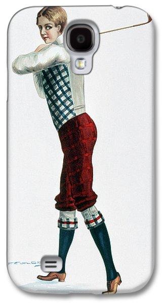 Golfer, C1920 Galaxy S4 Case by Granger