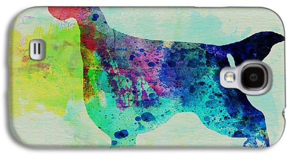 Gordon Setter Watercolor Galaxy S4 Case by Naxart Studio