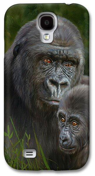 Gorilla And Baby Galaxy S4 Case by David Stribbling