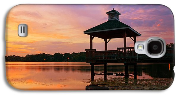 Gorton Pond Sunset Warwick Rhode Island Galaxy S4 Case by Lourry Legarde