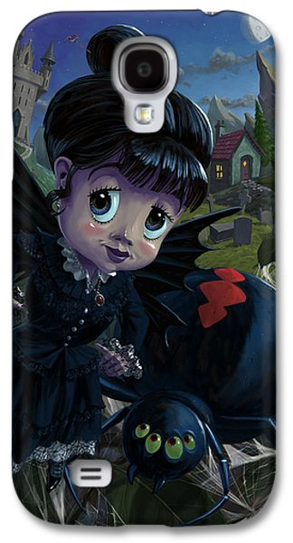 Goth Girl Fairy With Spider Widow Galaxy S4 Case
