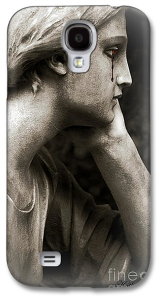 Gothic Surreal Cemetery Mourner Female Face - Mourning Female Statue Crying Tears - Sad Angel Art Galaxy S4 Case