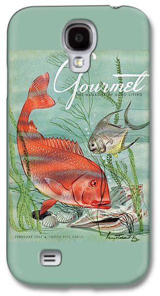 Gourmet Cover Featuring A Snapper And Pompano Galaxy S4 Case by Henry Stahlhut