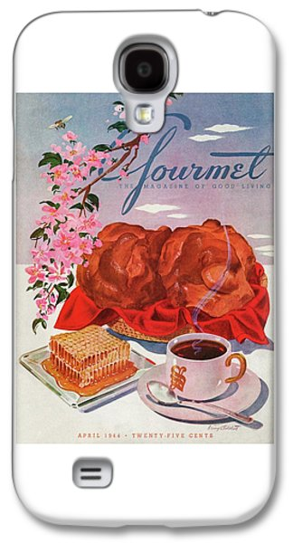 Gourmet Cover Illustration Of A Basket Of Popovers Galaxy S4 Case