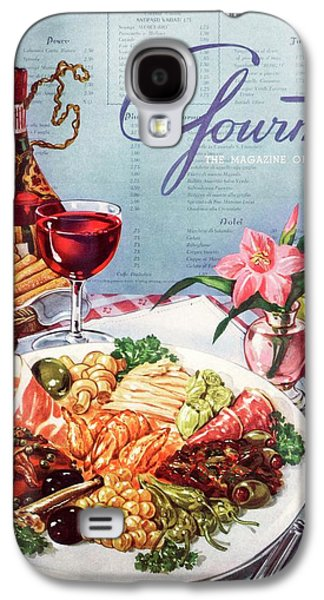 Gourmet Cover Illustration Of A Plate Of Antipasto Galaxy S4 Case by Henry Stahlhut