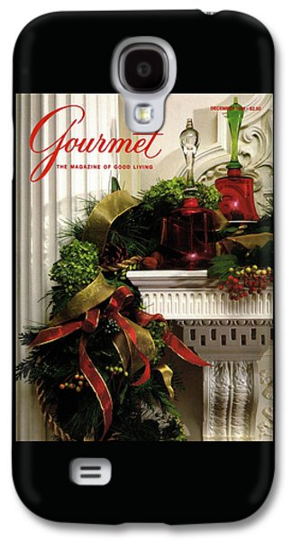 Gourmet Magazine Cover Featuring Christmas Garland Galaxy S4 Case