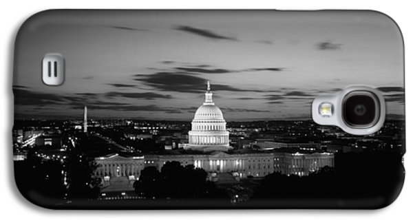 Capitol Building Galaxy S4 Case - Government Building Lit Up At Night, Us by Panoramic Images