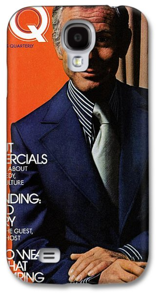 Gq Cover Of Johnny Carson Wearing Suit Galaxy S4 Case by Bruce Bacon