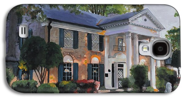 Graceland Home Of Elvis Galaxy S4 Case by Cecilia Brendel