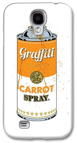 Carrot Galaxy S4 Case - Graffiti Carrot Spray Can by Gary Grayson