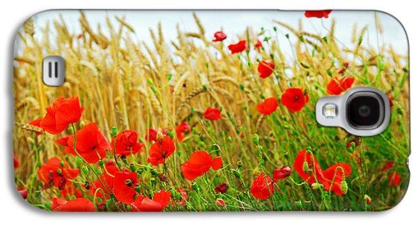 Grain And Poppy Field Galaxy S4 Case