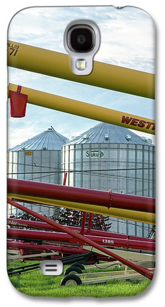 Grain Augers And Silos Galaxy S4 Case by Jim West