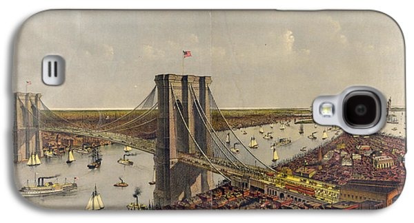 Grand Birds Eye View Of The Great East River Suspension Galaxy S4 Case by Litz Collection