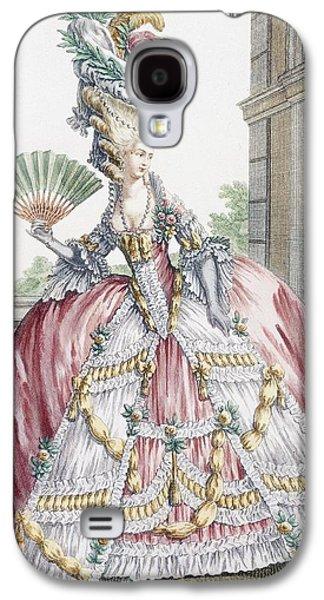 Grand Robe A La Francais, Engraved Galaxy S4 Case by Claude Louis Desrais