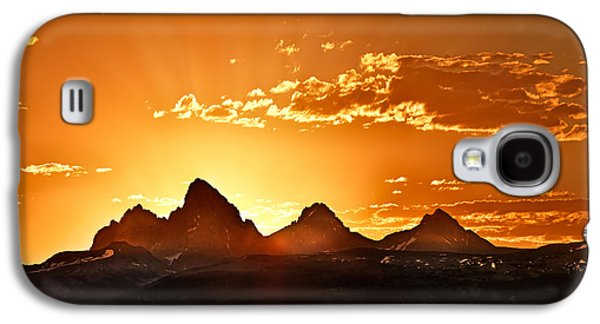 Grand Teton Sunrise Galaxy S4 Case by Leland D Howard