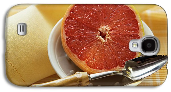 Grapefruit Half With Grapefruit Spoon In A Bowl Galaxy S4 Case