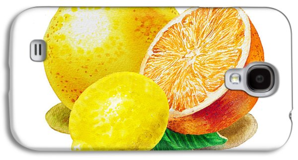 Grapefruit Lemon Orange Galaxy S4 Case by Irina Sztukowski
