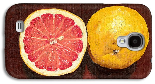 Grapefruits Oil Painting Galaxy S4 Case by