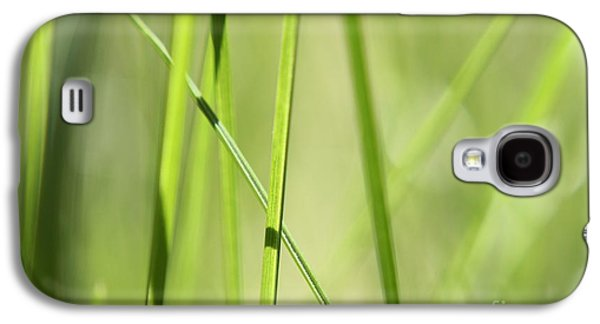 Grass Abstract - Woodie- Green 01 Galaxy S4 Case by Variance Collections