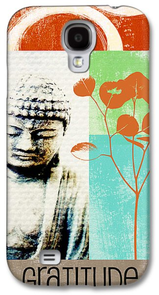 Gratitude Card- Zen Buddha Galaxy S4 Case by Linda Woods