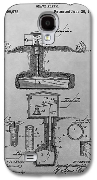 Grave Alarm Patent Drawing Galaxy S4 Case by Dan Sproul