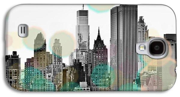 Gray City Beams Galaxy S4 Case by Susan Bryant