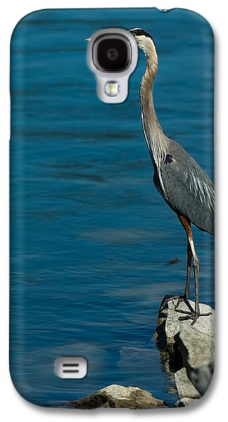 Great Blue Heron Galaxy S4 Case by Sebastian Musial