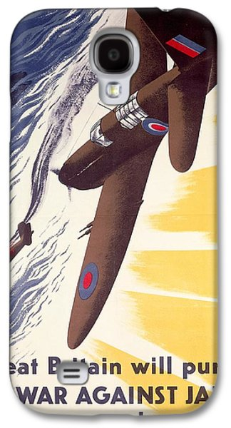 Great Britain Will Pursue War Against Japan To Very End Winston Churchill Propaganda Poster Galaxy S4 Case