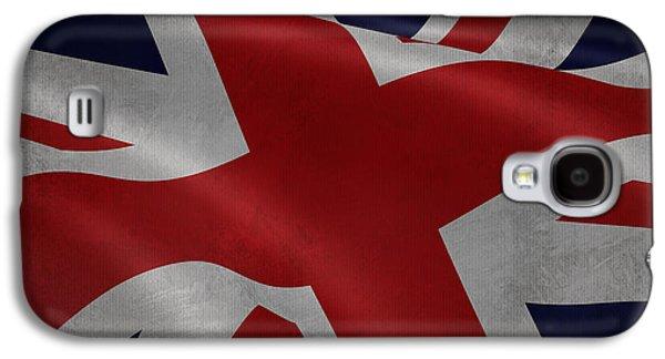 Great Britains Flag Waving On Canvas Galaxy S4 Case by Eti Reid