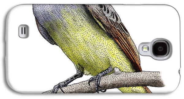 Great Crested Flycatcher Galaxy S4 Case by Roger Hall