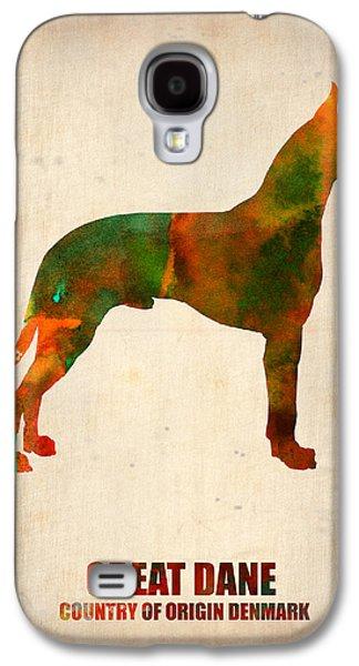 Great Dane Poster Galaxy S4 Case by Naxart Studio
